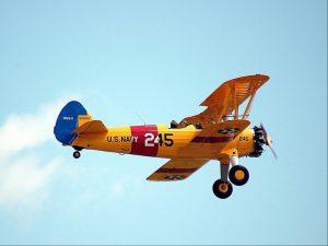 Biplane Flying