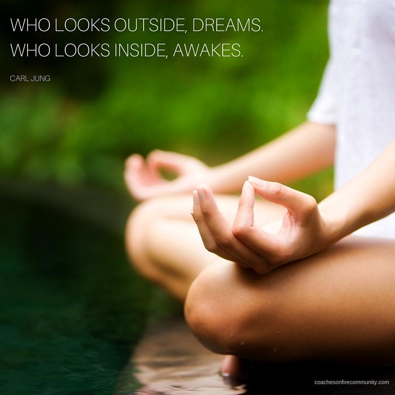 Who Looks Outside Dreams.who Looks Inside Awakes Min